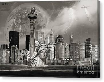 The Statue Of Sandy Canvas Print by Karl Emsley