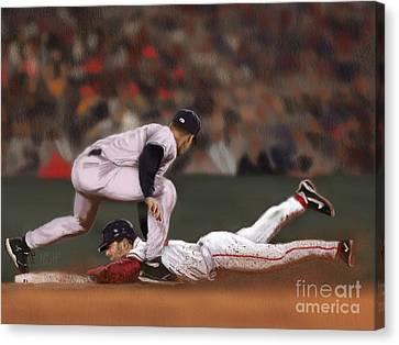 New York Baseball Parks Canvas Print - The Steal by Jeremy Nash
