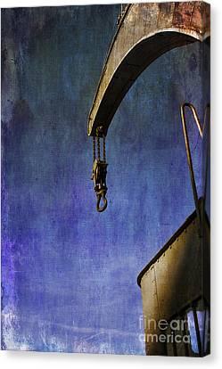 The Steam Crane Canvas Print by Brian Roscorla