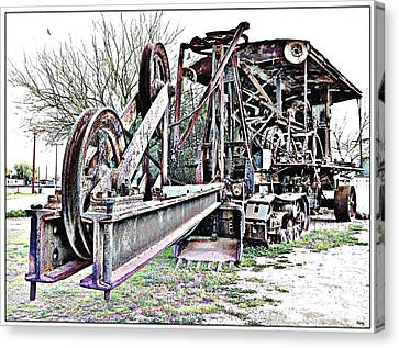 The Steam Shovel Canvas Print by Glenn McCarthy Art and Photography