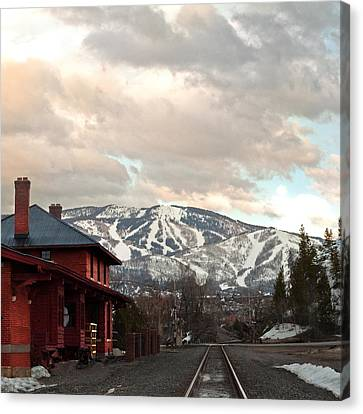 The Steamboat Depot Canvas Print by Daniel Hebard