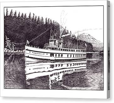 The Steamer Virginia V Canvas Print by Jack Pumphrey
