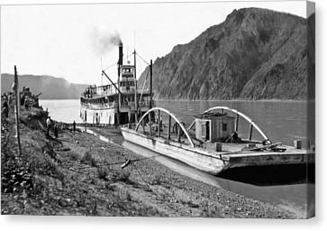The Steamer yukon In Alaska Canvas Print by Underwood Archives