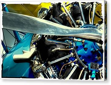The Stearman Engine Canvas Print by David Patterson
