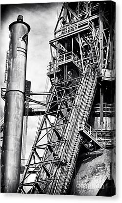 The Steel Mill Canvas Print by John Rizzuto