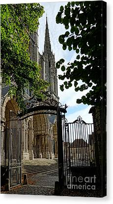 The Steeple And The Gate Canvas Print by Olivier Le Queinec