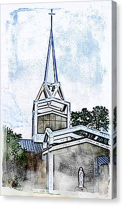 Canvas Print featuring the digital art The Steeple by Davina Washington