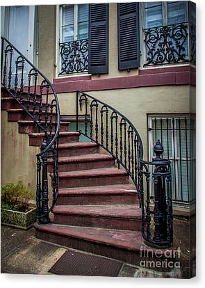 The Steps Canvas Print by Perry Webster