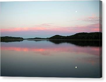 The Still Water Mimics The Skys Painted Canvas Print