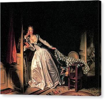 The Stolen Kiss Canvas Print by Jean-Honore Fragonard