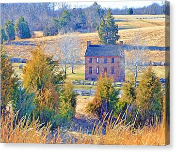 The Stone House / Manassas National Battlefield Park In Winter Canvas Print