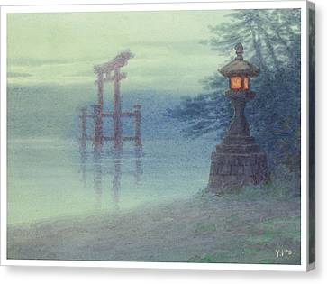 The Stone Lantern Cira 1880 Canvas Print by Aged Pixel