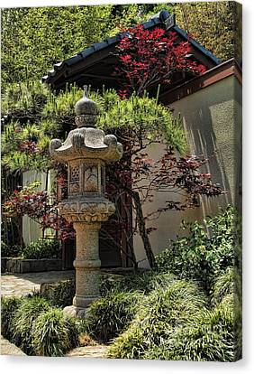 The Stone Lantern Canvas Print by Peter Dang