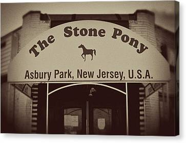 The Stone Pony Vintage Asbury Park New Jersey Canvas Print by Terry DeLuco