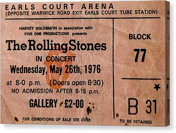 Rolling Stone Canvas Print - The Stones Play London by Benjamin Yeager