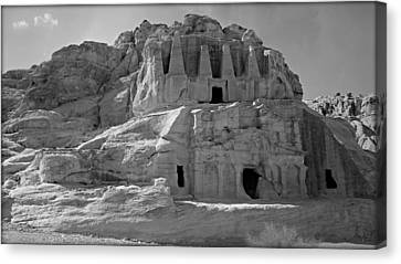 Petra Canvas Print - The Stones Still Speak - Bw by Stephen Stookey