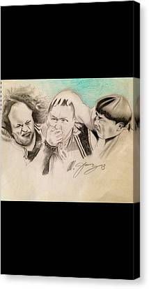 The Stooge Legends Canvas Print by Mario Jimenez