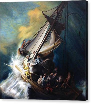The Storm On The Sea Of Galilee Canvas Print
