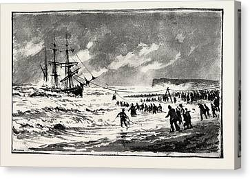 The Storm On The South Coast Canvas Print by English School