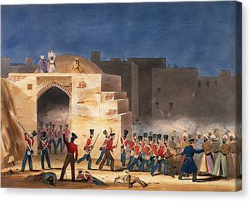 The Storming Of Ghuznee, Inside View Canvas Print by English School