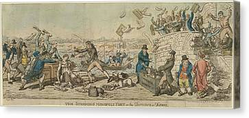 The Storming Of Monopoly Fort Canvas Print by British Library
