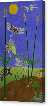 The Story Of The Dragonfly With Description Canvas Print by Gerald Strine