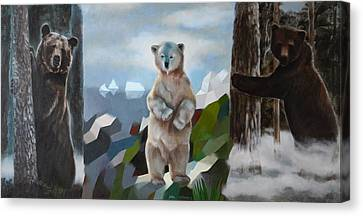 The Story Of The White Bear Canvas Print by Jukka Nopsanen