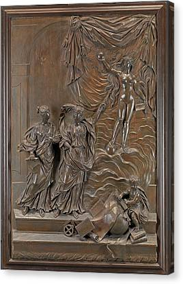 The Stowe Reliefs Allegorical Scene, Possibly Truth Canvas Print by Litz Collection