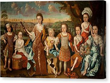The Strachey Family, C.1710 Canvas Print by English School