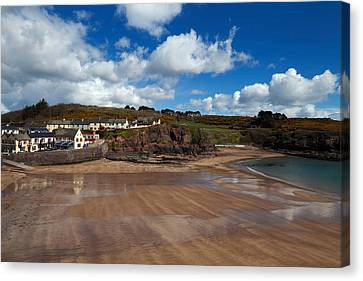 The Strand Inn And Dunmore Strand Canvas Print by Panoramic Images