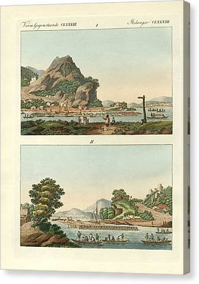 The Strange Great Rhine-floats Canvas Print by Splendid Art Prints