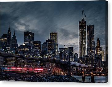 Canvas Print featuring the photograph The Streaker In Nyc by Linda Karlin