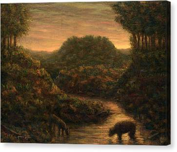 The Stream Canvas Print by James W Johnson