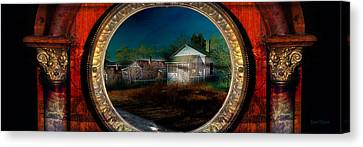 The Street On The River Canvas Print