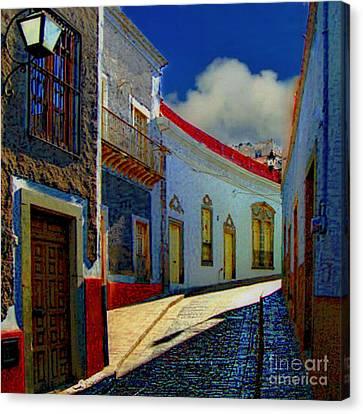 The Street To Diego Rivera's Parents House Canvas Print by John  Kolenberg