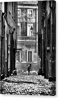 The Streets Of Roma Canvas Print by John Rizzuto