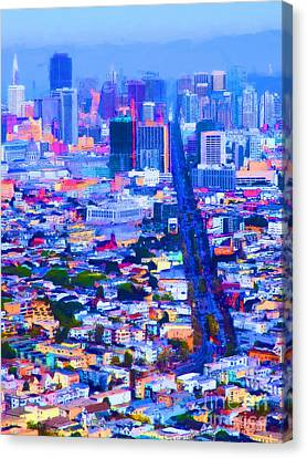 The Streets Of San Francisco 5d28040 Vertical Canvas Print by Wingsdomain Art and Photography
