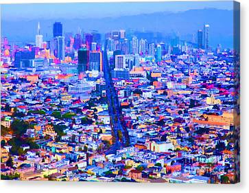 The Streets Of San Francisco 5d28040 Canvas Print by Wingsdomain Art and Photography