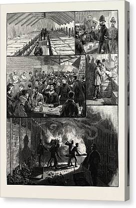 The Strikes At The South Metropolitan Gas Companys Works Canvas Print by Litz Collection