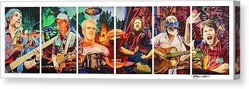 The String Cheese Incident At Horning's Hideout Canvas Print by Joshua Morton
