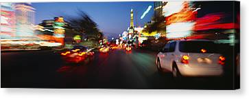 The Strip At Dusk, Las Vegas, Nevada Canvas Print by Panoramic Images