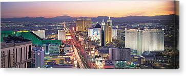 The Strip Las Vegas Nv Usa Canvas Print by Panoramic Images