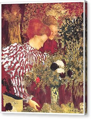 The Striped Blouse Canvas Print by Edouard Vuillard