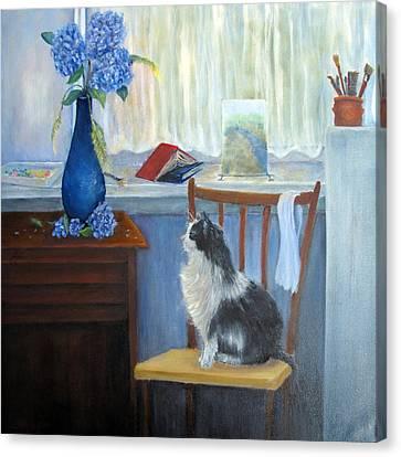 The Studio Cat Canvas Print by Loretta Luglio