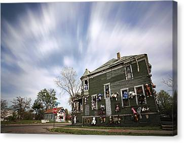 The Stuffed Animal Doll House At The Heidelberg Project - Detroit Michigan Canvas Print by Gordon Dean II