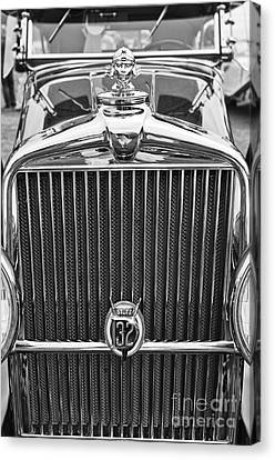 The Stutz Classic Car Front End At The Concours D Elegance. Canvas Print by Jamie Pham