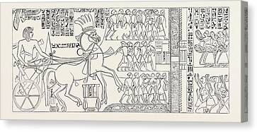 The Suez Canal Of Seti I, Pharaoh Of Egypt Canvas Print by Litz Collection