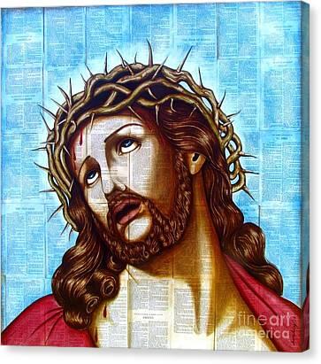 The Suffering Christ Canvas Print by Joseph Sonday