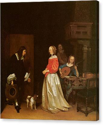 The Suitor's Visit Canvas Print by Gerard Terborch