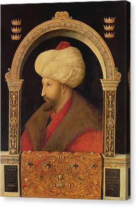 The Sultan Mehmet II 1432-81 1480 Oil On Canvas Canvas Print by Gentile Bellini